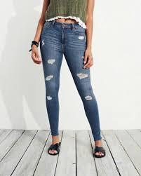 Stretch High Rise Super Skinny Jeans