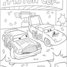 Cars Coloring Pages Chick Hicks And The King