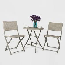 3pc All Weather Wicker Folding Patio Bistro Set - Gray ... Marvelous Brown Woven Patio Chairs Remarkable Plastic Delightful Wicker Folding Fniture Resin Best Bunnings Outdoor Black Lowes Ding French Caf 3pc Bistro Set Graywhite Target Stackable Metal Buy All Weather Gray Cozy Lounge Chair For Exciting Gorgeous Designer Home Depot Clearance Grey 5piece Chairsplastic Marvellous Modern Beautiful Yard Winsome Surprising