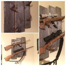 Barnwood And Mule Deer Antler Gun Rack I Made For Our Kitchen Coyotes
