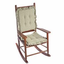 Furniture Rocking Chair Cusions Luxury Klear Vu Gingham 2 Piece Ruffle Delightfill Cushion