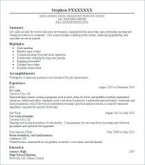 Resume Kfc Example Combined With Fry Cook Traverse City To Frame Astounding Cv