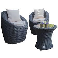 canapé de jardin 2 places salon de jardin dcb garden totem fidji 2 places en résine tressée noir