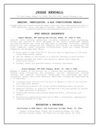 Hvac Technician Resume Unique Templates Refrigeration Mechanic At Sample Ideas