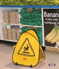 Banana Wet Floor Sign by Pop Up Wet Floor Safety Signs Folds Up With A Twist 9s07