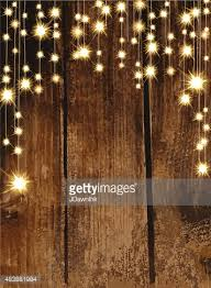 Vector Art Blank Invitation Design Template With String Lights