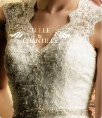 Illusion Neckline Rustic Lace Vintage Bridal Wedding Dress TBQW034