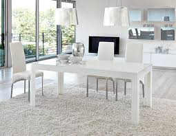 unico contemporary ghost dining table in clear dark grey or white