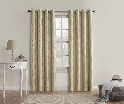 Sound Reducing Curtains Amazon by Amazon Com Sun Zero Travis Modern Wave Print Blackout Curtain