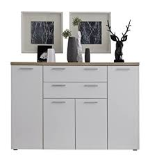 möbel kommode eiche sägerau hell weiss highboard sideboard
