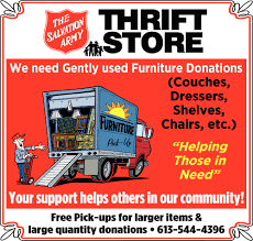 100 Salvation Army Truck Pick Up We Need Gently Used Furniture Donations The Thrift
