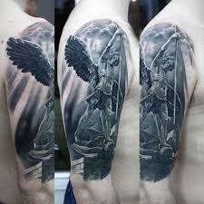 3d Guardian Angel Tattoo Mens Arms