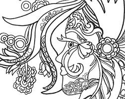 15 ColoringPages FunFancyFunkyFaces Vol1 Original Art Coloring Book For AdultsColoring Therapy