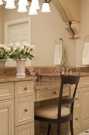 Bathroom Makeup Vanity Height by Bathroom Vanity With Makeup Station Kit4en Com