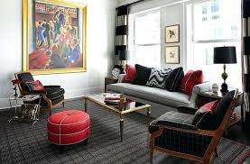 stylish red and black living room decor black white red living