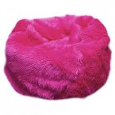 Blue Fuzzy Chair RileyThompson1 168 Fur Bean Bag