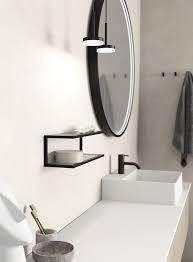 dansani you ablage und handtuchhalter schwarz mit flexiblen glaseinlagen