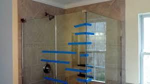 backyards install frameless glass doors for tile shower