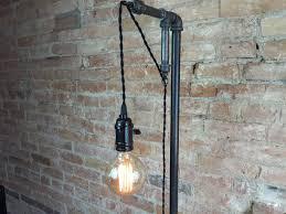 industrial style floor l pendant edison bulb