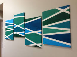 Easy Wall Painting Ideas Imanada For Your Fun Interior Update Project Excellent Prismatic Lines Of Which Has Blue