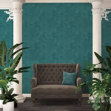 a s création vliestapete sumatra tapete uni blau grün