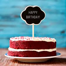 Download Chalkboard With The Text Happy Birthday In A Cake Stock Photo