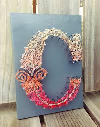 Letter C Typography String Art
