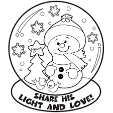 Snow Globe Winter Coloring Pages