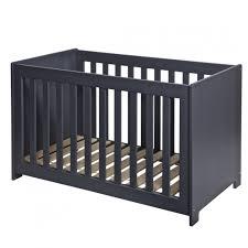 chambre bébé gris et lit bébé bois massif 60x120 gris acier aarometm01b