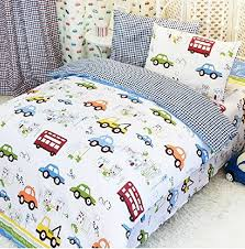 LELVA Cars Bedding Queen Size train Bedding Sets cute Kids Bedding