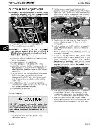 Deere Stx38 Yellow Deck Manual Pdf by Caution Clutch Adjustment Deere Stx38 User Manual