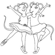 Angelina The Ballerina Coloring Page