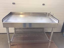 Fish Cleaning Station With Sink by 6 U0027 Aluminum Fish Cleaning Table