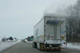 100 Simi Truck Winter In MN 66 Snow Covered Semi Truck Minnesota Prairie Roots