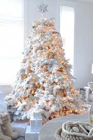 75 Flocked Christmas Tree by Design By Monika Hibbs A White Christmas Tree Can Be Modern