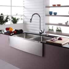 Double Farmhouse Sink Bathroom by Stainless Steel Kitchen Sink Combination Kraususa Com