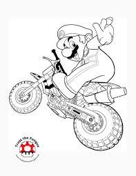 Mario Kart Wii Coloring Pages Tmk Presents Free Printable