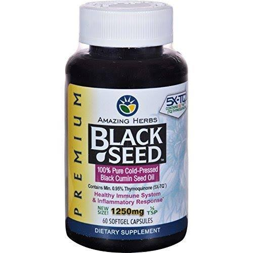 Amazing Herbs Premium Black Seed Oil - 1250mg
