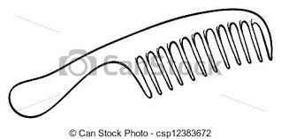 Illustration of a hair brush on a white background vectors