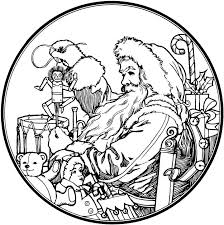 This Santa Claus Coloring Pages 13709 Vintage For Adults