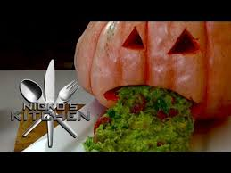 Picture Of Pumpkin Throwing Up Guacamole by Vomiting Pumpkin Halloween Recipe Youtube