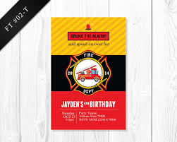 BOYS Firetruck Invitation - Birthday Printable Invite For Boys ...