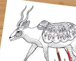 Printable Adult Coloring Page Mandala Kudu