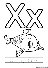 X Ray Fish Coloring Page Alphabet Missive Of The