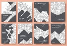 100 Modern Design Magazines Abstract Vector Brochure Cards Set Outline Art Template Of Flyer