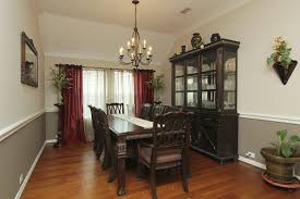 Lovely Dining Room Colors With Chair Rail Interesting Paint Ideas