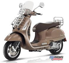 The 2017 Vespa GTS Touring 300 With Luggage Racks And Screen