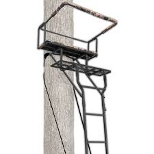Walmart Swivel Chair Hunting by Ameristep 15 U0027 Two Man Ladderstand W Realtree Ap Seat Walmart Com