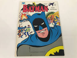 Vintage 1976 Batman Meets Blockbuster Coloring Book New Old Stock Photo 1