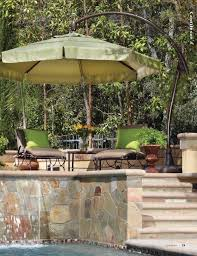 Large Cantilever Patio Umbrella by Cheerful Outdoor Patio Design With Chairs And Table Sets Protected